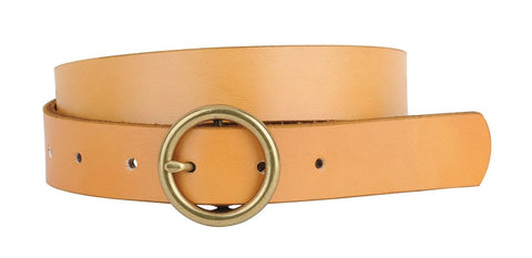 Camel Round Buckle Belt