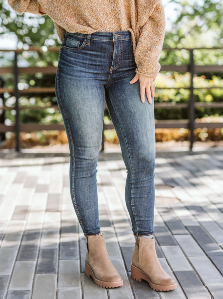 Donna High Rise Fab Ab Ankle Skinny Jeans