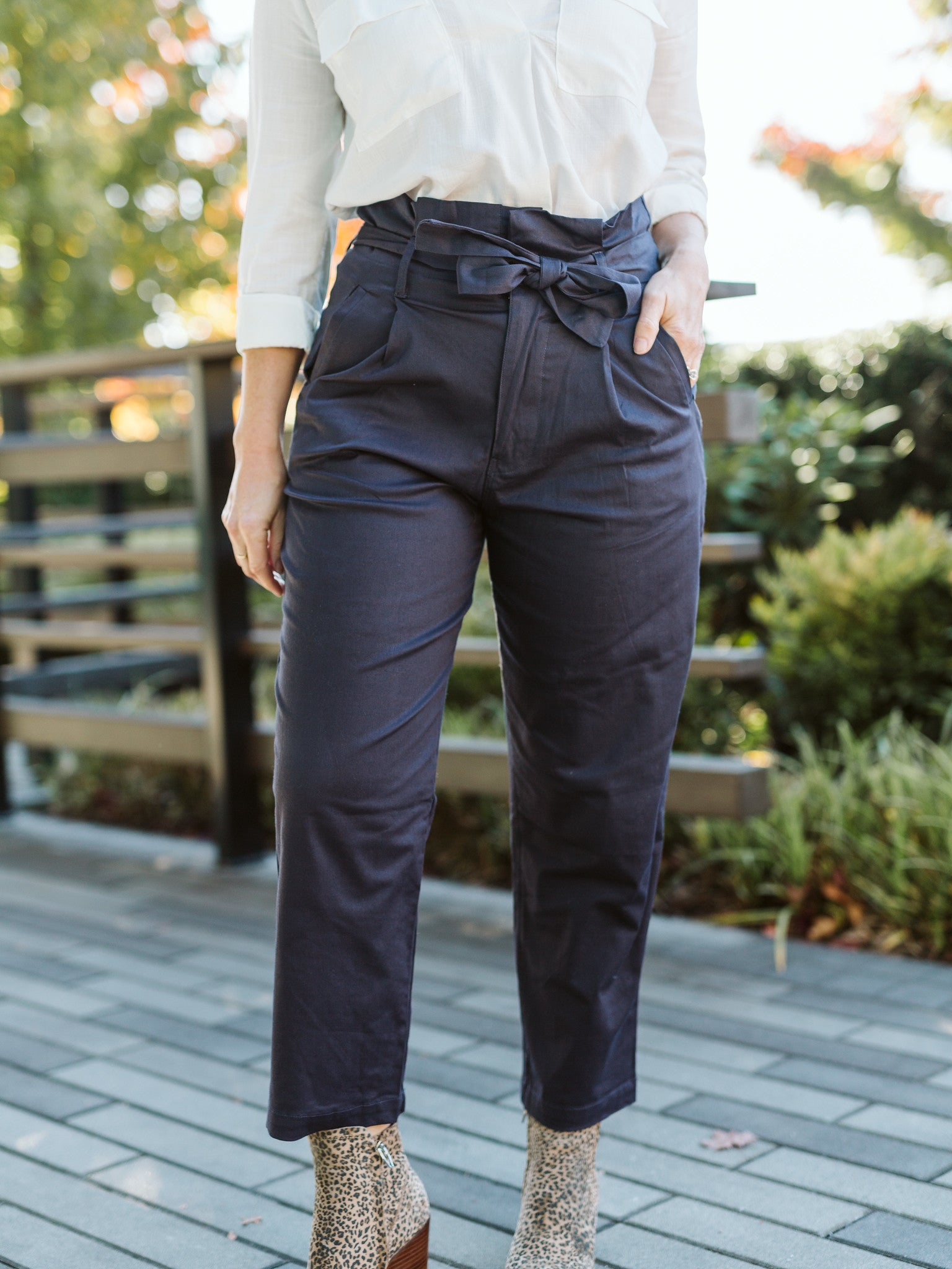 Navy Wide Pants