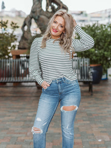 Vanilla Ice Clemente Striped Puff Sleeve Top