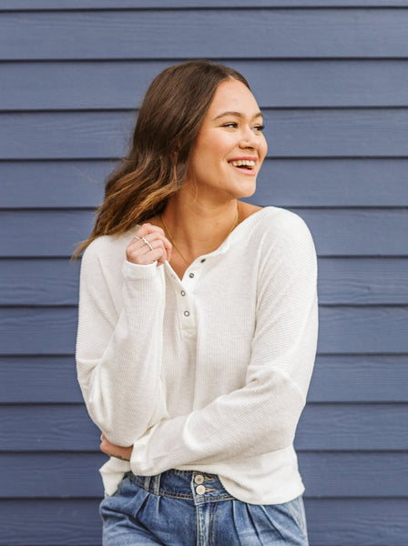 Ivory Long Sleeve Top