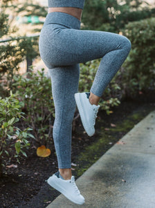Black & Grey Seamless Highwaist Leggings