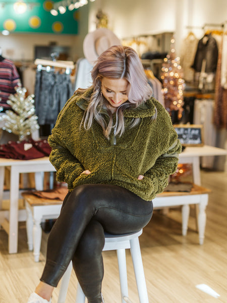 Free People Army Nantucket Fleece Jacket