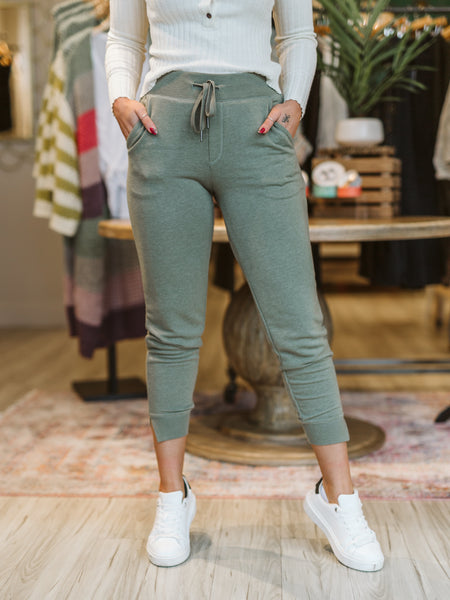 Meadow Green Cypress Loop Terry Jogger