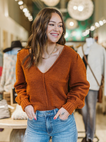 Free People Burnt Butter Reverie Pullover