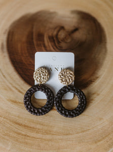 Betty Nat Button & Hoop Earrings