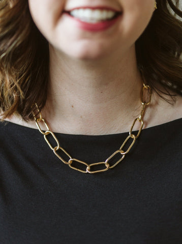 Gold Paper Chain Necklace