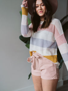 Blush Stripes Are Forever Sweater