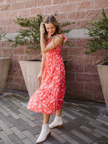 Lilibet Tiered Midi Dress