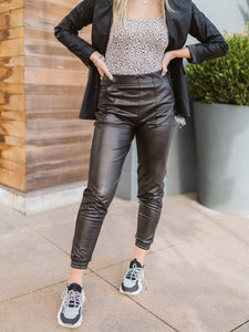 SPANX® Faux Leather Jogger