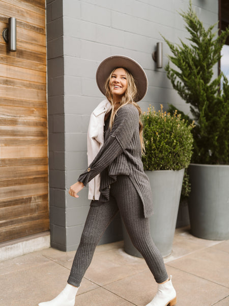 Free People Charcoal Around The Clock Jogger