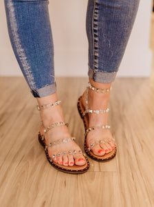 Steve Madden Clear Travel Studded Sandal