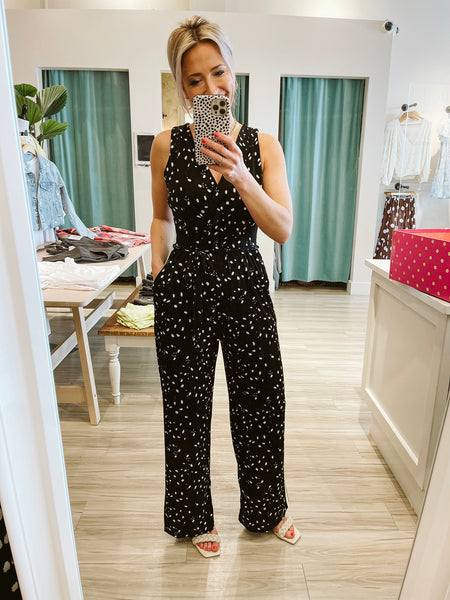 Black & White Abstract Jumpsuit