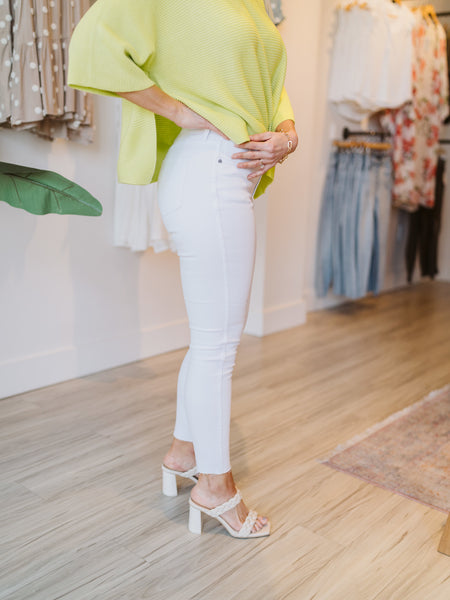 Optic White High Rise Connie Skinny Jean