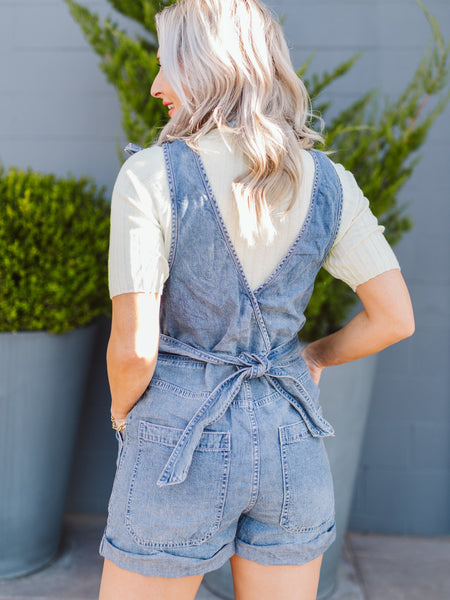 Free People Heavenly Blue Memphis Romper