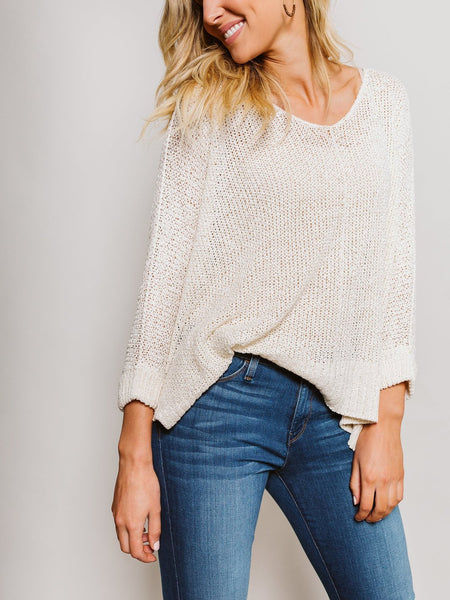 Cream Long Sleeve Sweater