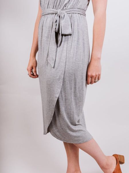 Grey Knit Dress