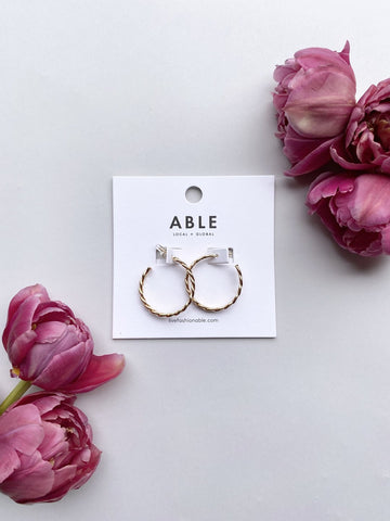 Gold Ivy Hoops