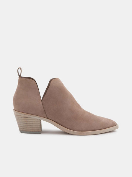 Sonni Almond Suede Cutout Boot