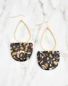 Black Mix Emmy Earrings