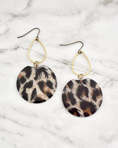 Leopard Etch Earrings