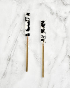 Black White & Brass Ellison Earrings