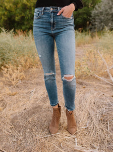 Better Together High Rise Distressed Ankle Skinny