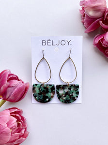 Green Mix Multi Emmy Earrings
