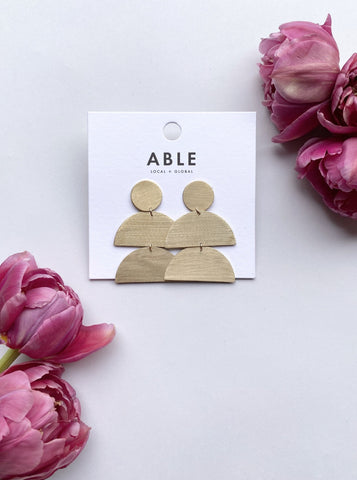 Brass Silhouette Earrings