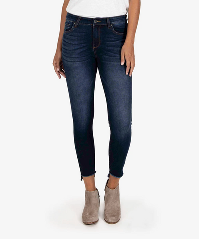 Connie High Rise Ankle Skinny Phasd Wash