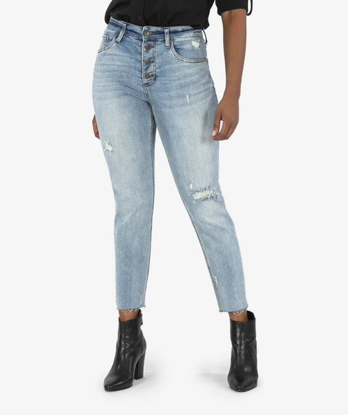 KUT Rachel Mom High Rise Denim