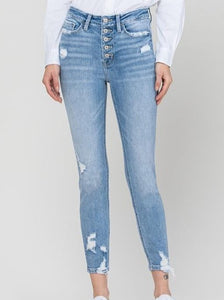 Ash May High Rise Crop Skinny