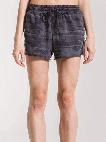 Dark Blue Camo Sporty Shorts