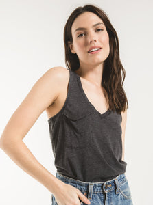 Black Pocket Racer Tank