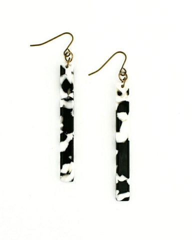 Black & White Ella Earrings