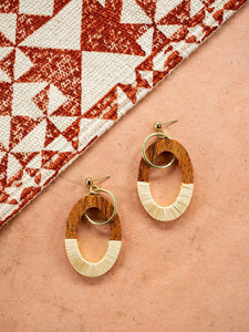 Wood Berkeley Earrings