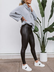 SPANX® Black Faux Leather Leggings