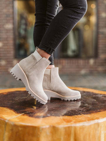 Dolce Vita Huey Almond Suede Chelsea Boot
