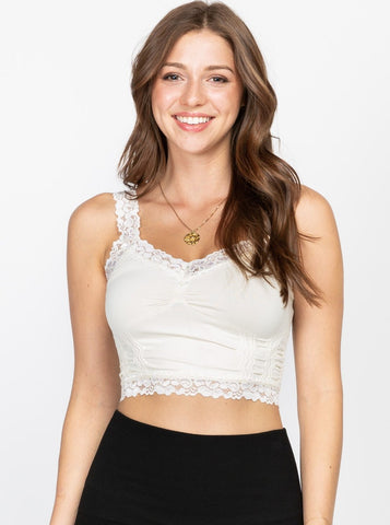 Ivory Seamless Cropped Cami