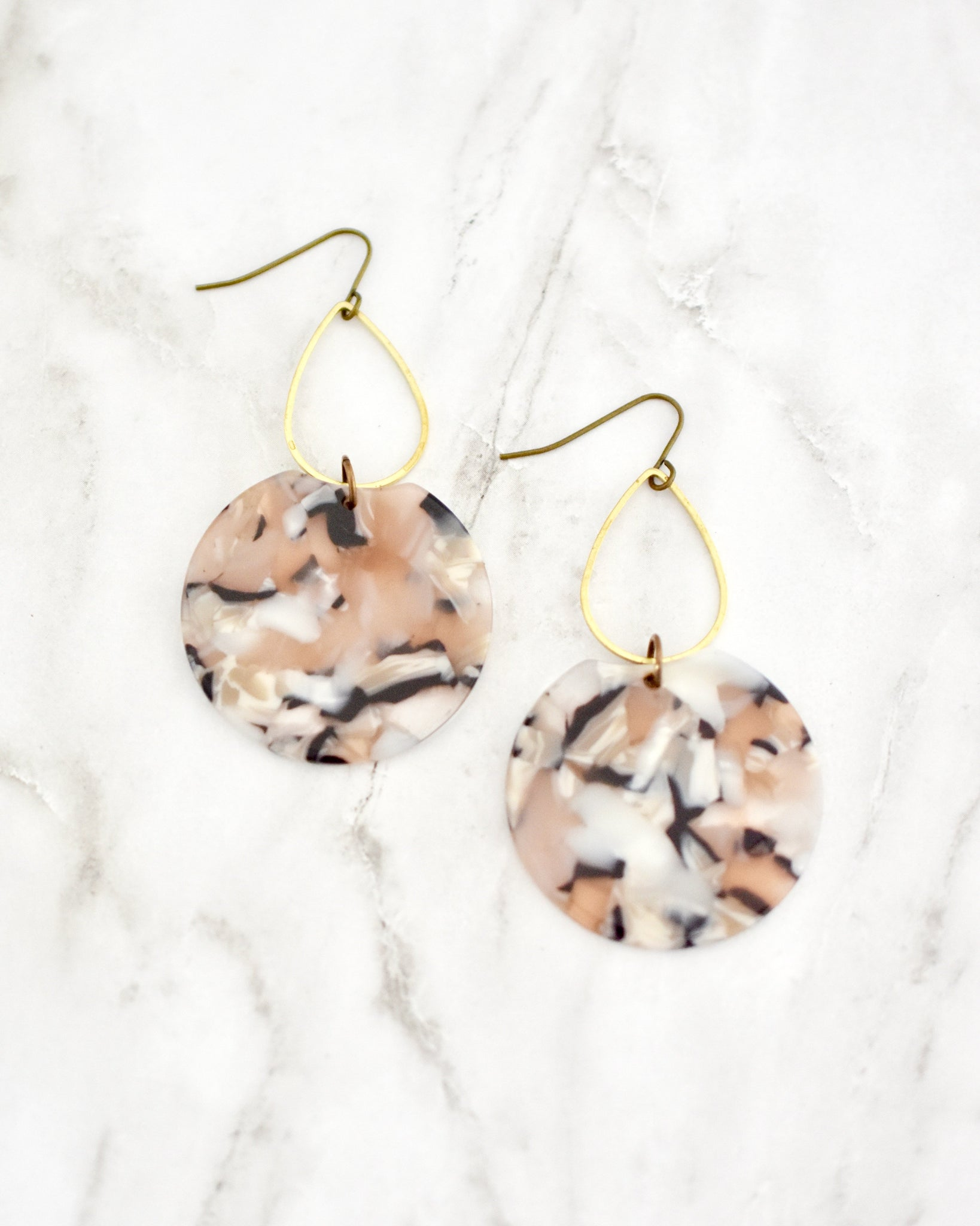 Peach Etch Earrings