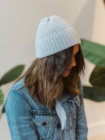 Grey Knitted Hat