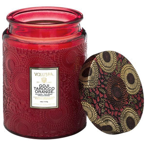 CURBSIDE PICKUP ONLY: Goji & Tarocco Orange Large Candle