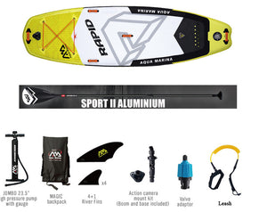 AQUA MARINA RAPID inflatable sup stand up paddle board
