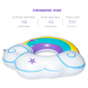 DMAR Inflatable Rainbow Cloud Giant Pool Float