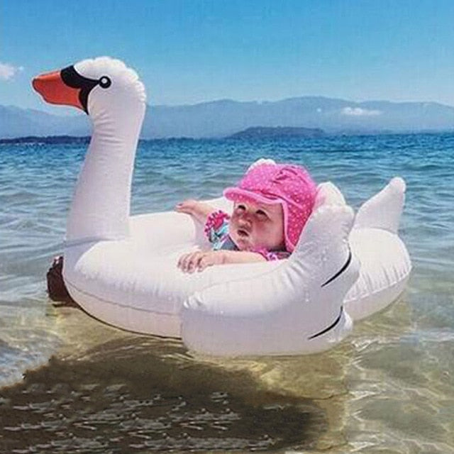 Inflatable Flamingo Pool Float for Children