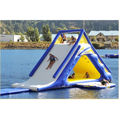 Inflatable triangle water slide