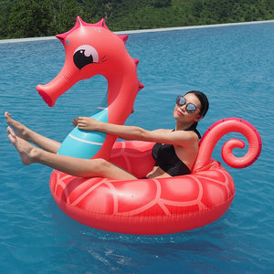 138cm Giant RED Seahorse Inflatable Float