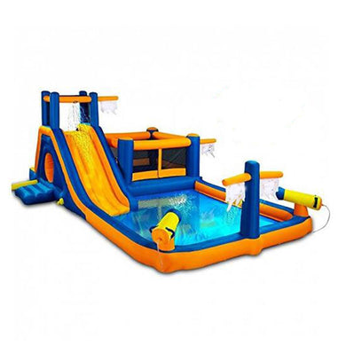 Amusement Park Inflatable Water Slide Bouncy Slide with Pool