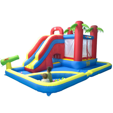 Inflatable Bouncy Castle Slide with Free Balls