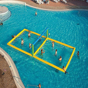 Inflatable volleyball court for water